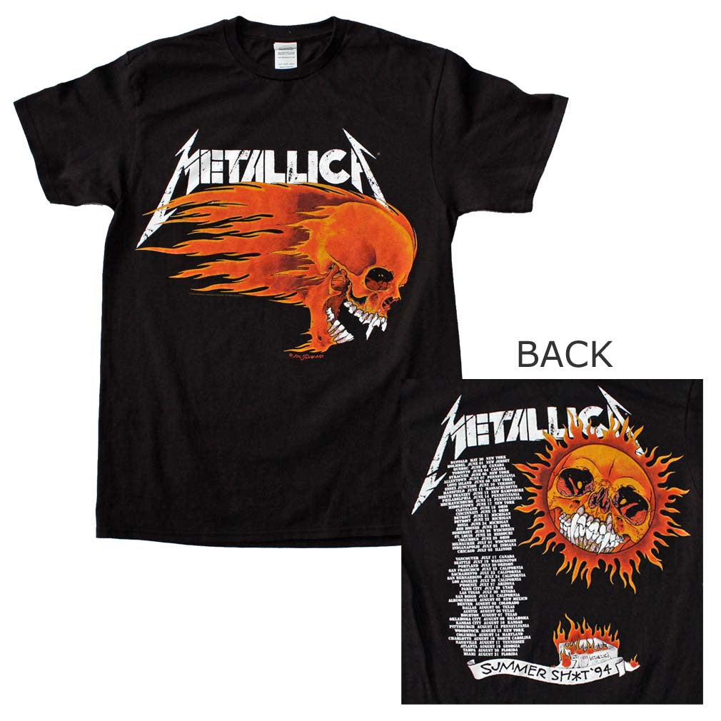 Metallica Flaming Sun T-Shirt Small - X-Large