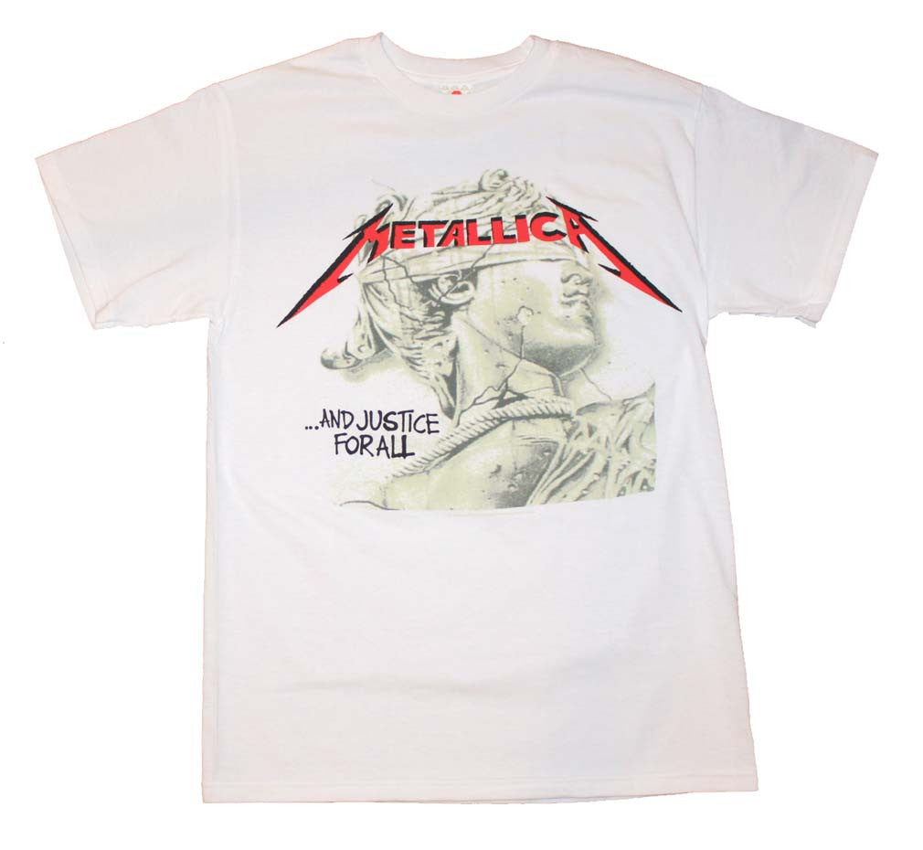 Metallica Justice Chrome Statue T-Shirt Small - X-Large