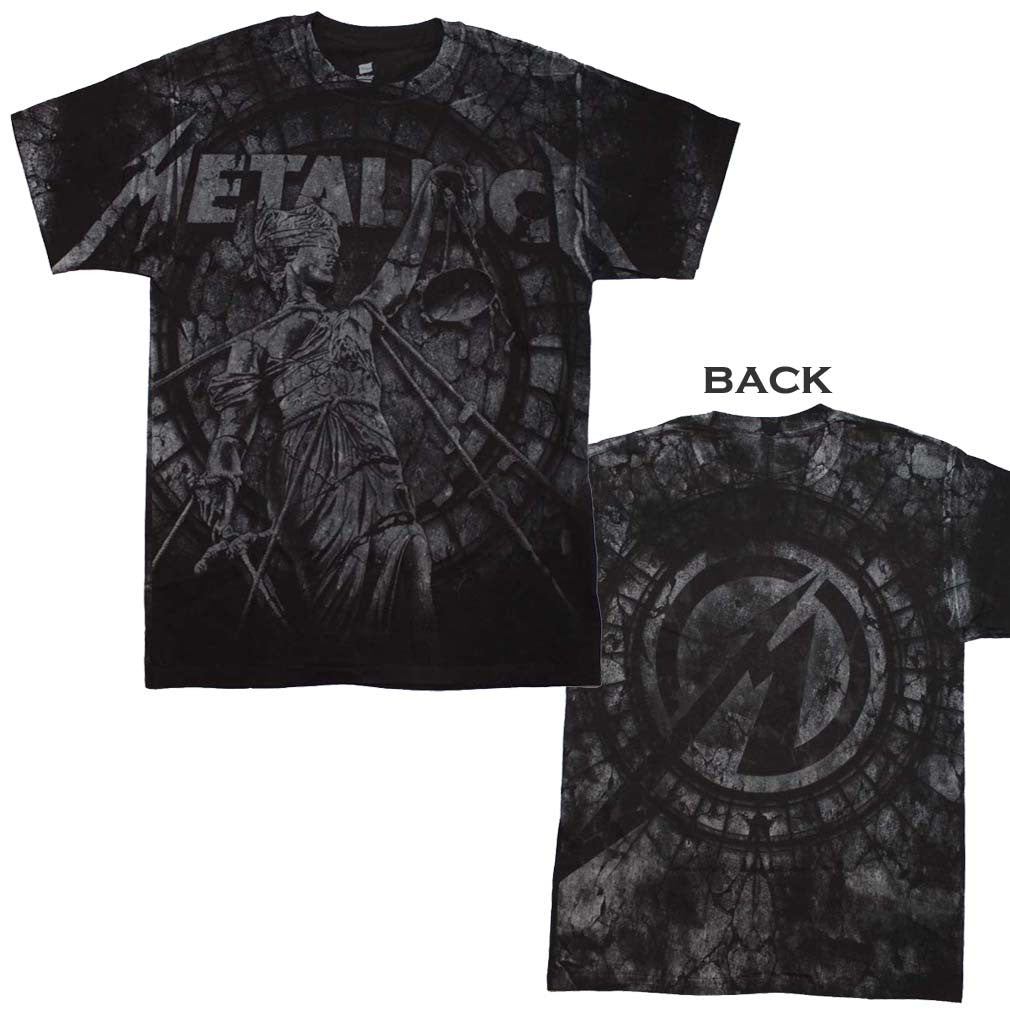 Metallica Stone Justice T-Shirt Small - X-Large