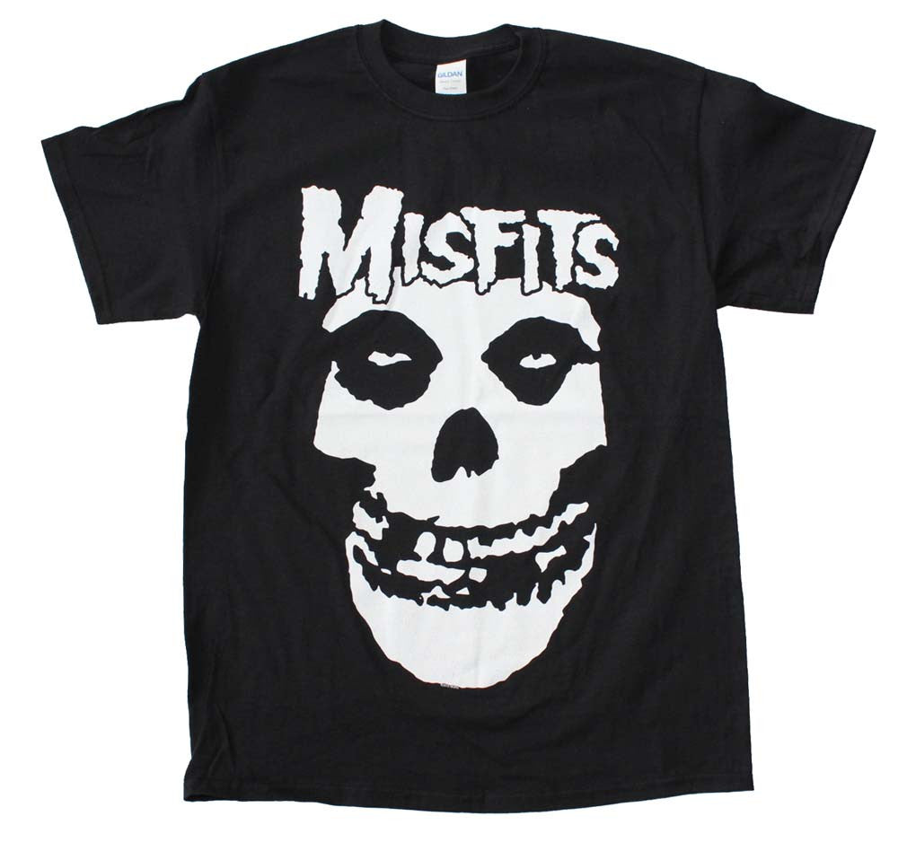 Misfits White Skull Big Print T-Shirt Small - X-Large