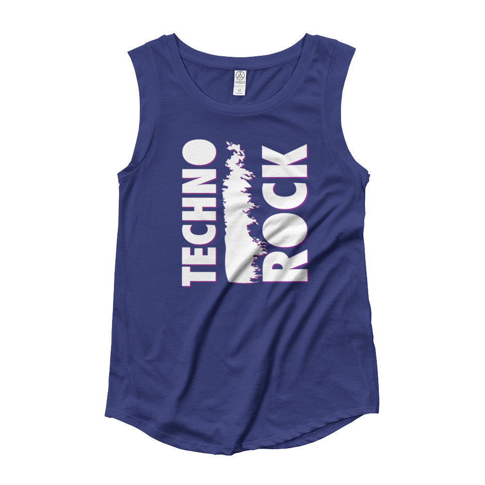 Techno Rock Ladies' Cap Sleeve T-Shirt