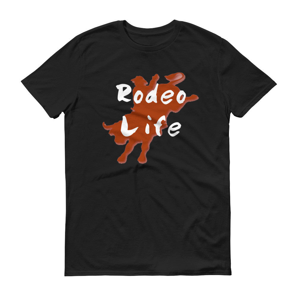 Cowboy outline Rodeo Life Short sleeve t-shirt