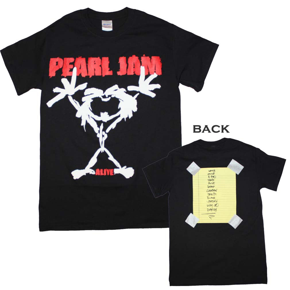 Pearl Jam Alive Stickman T-Shirt Small - X-Large