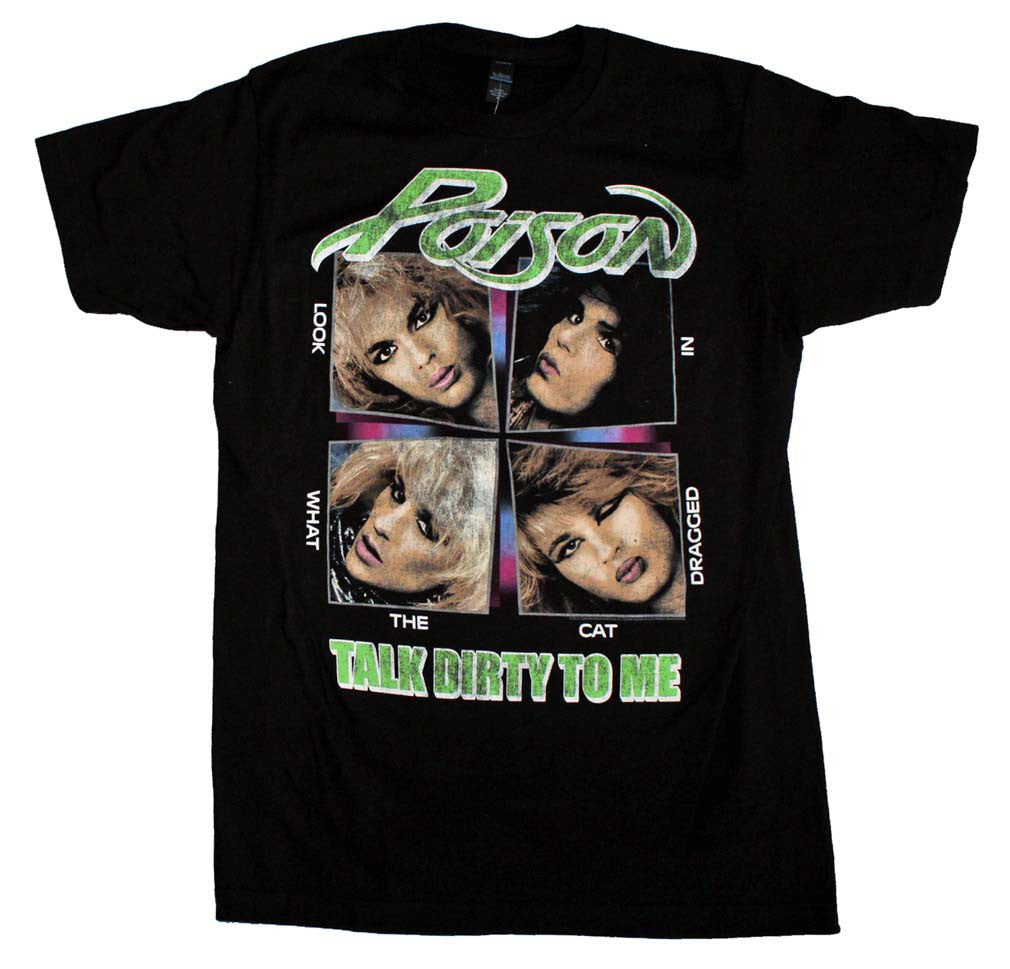 Poison Talk Dirty to Me Soft T-Shirt Small - X-Large