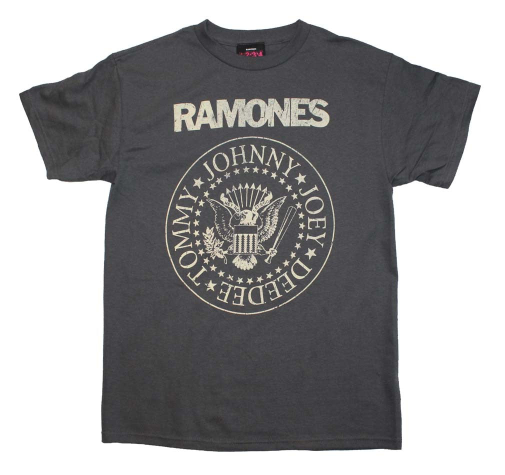 Ramones Distressed Crest T-Shirt Small - X-Large