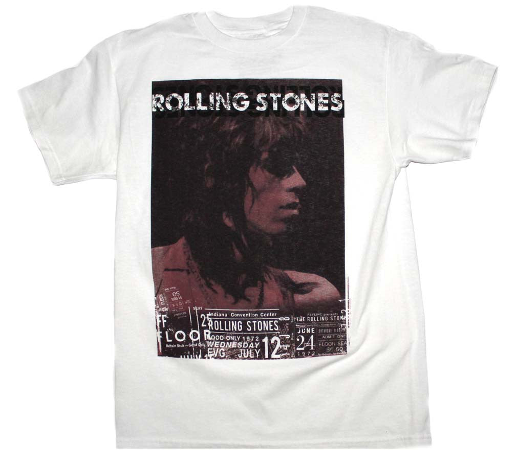 Rolling Stones Keith Vintage Live T-Shirt Small - X-Large