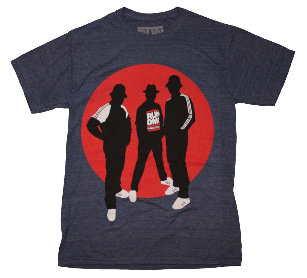 Run DMC Silhouette Circle Tri-Blend T-Shirt Small - X-Large