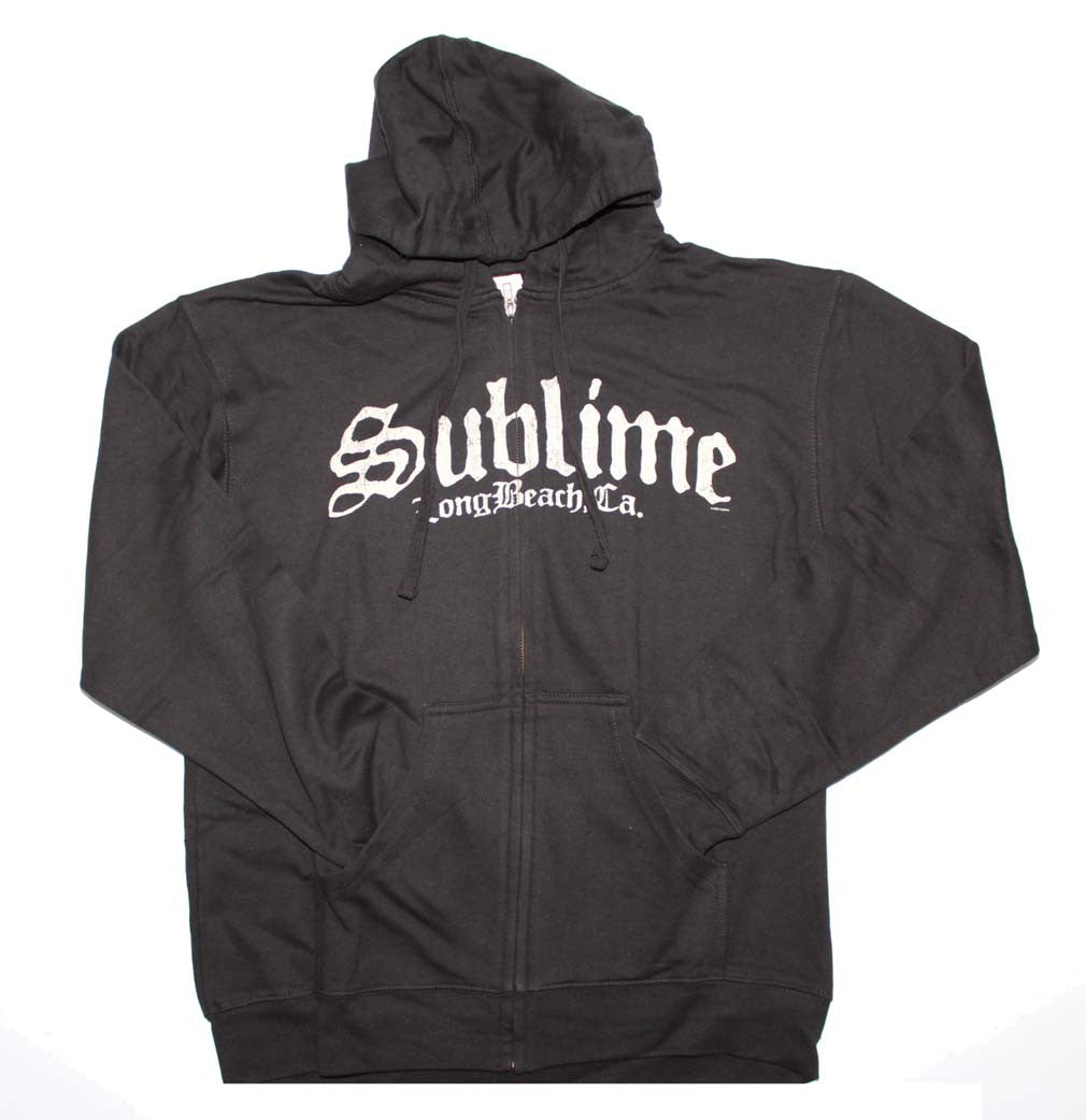 Sublime Black Logo Zip Sweatshirt Small - X-Large