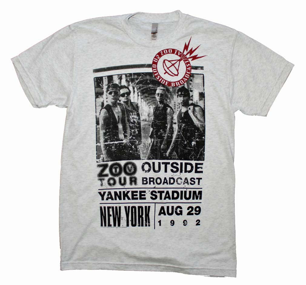 U2 Outside Zoo Tour Slim Fit T-Shirt Small - X-Large