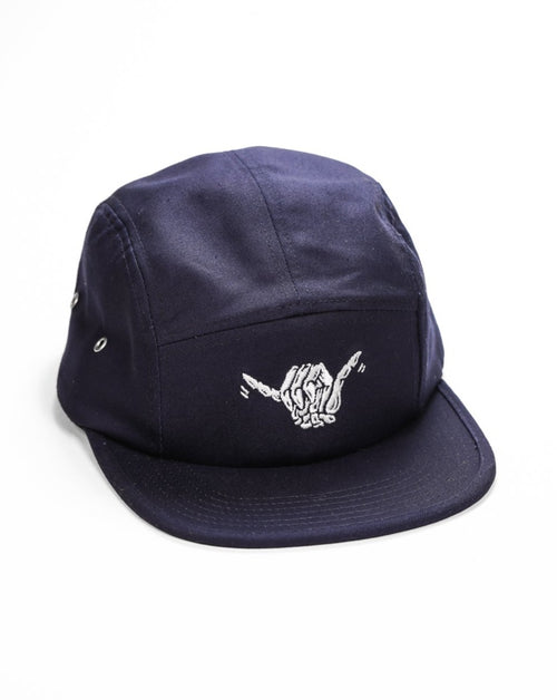 Skeleton Shaka 5-Panel Hat - Navy