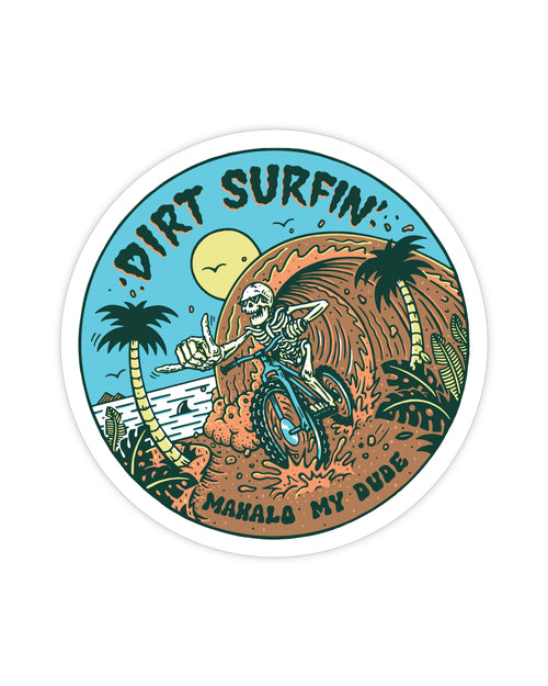 Dirt Surfin' Sticker