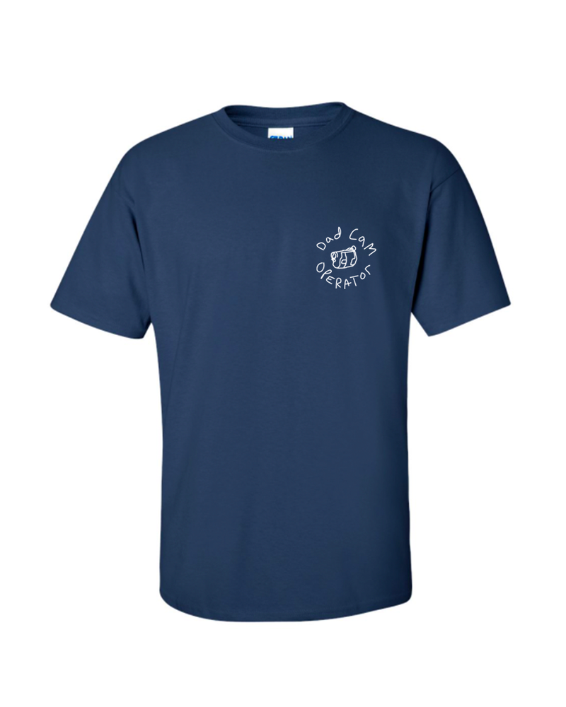 Dad Cam Operator T-Shirt - Navy