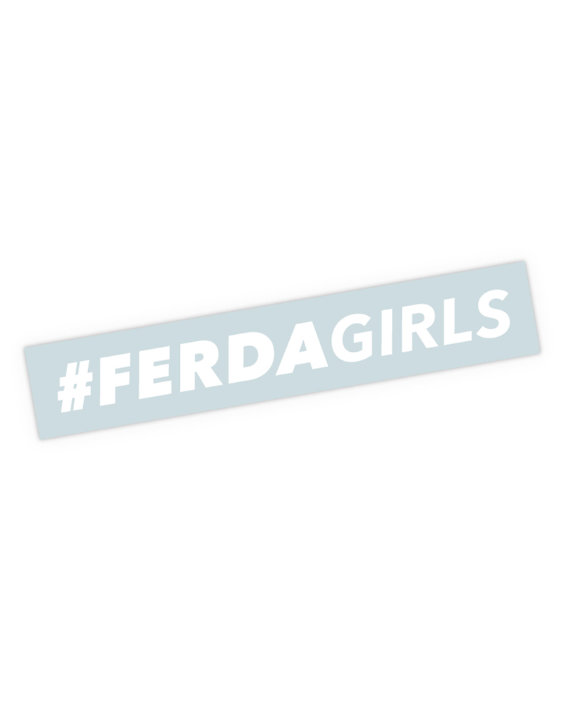 "Ferda Girls Horizontal Sticker (5.5"")"