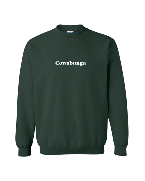 Cowabunga Crewneck - Forest Green