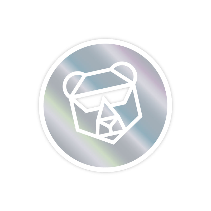 Light Up Laptop Sticker - Holographic IFHT Bear