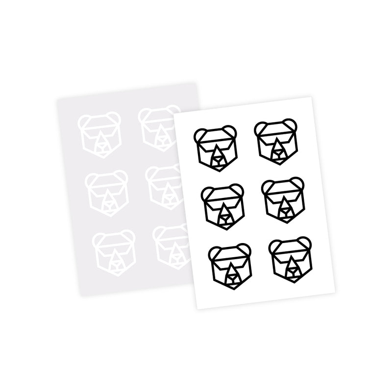 Mini Bear Stickers - 12 Pack
