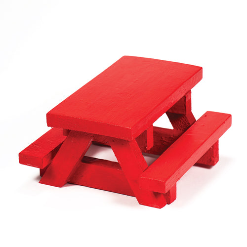 Squirrel Space Picnic Table - Red
