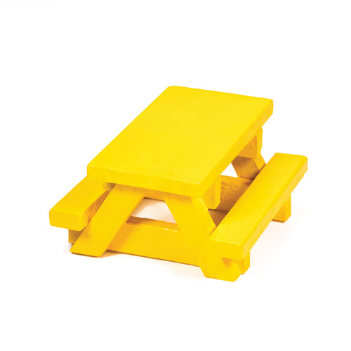 Squirrel Space Picnic Table - Yellow