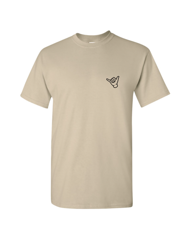 Embroidered Mahalo T-Shirt - Tan