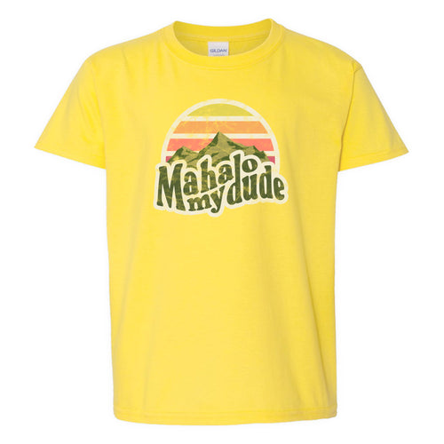 Mahalo My Dude T-Shirt [YOUTH] - Yellow