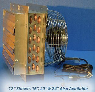 Hydronic Unit Heater for Outdoor Wood Boiler - 3 Sp Fan 50k to 200k BTU