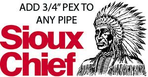 "Add 3/4"" Non-Barrier PEX to any pipe."