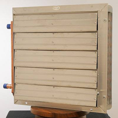 Hydronic Unit Heater for Outdoor Wood Boiler - Any Hot Water Source 3 Sp Fan 130k BTU