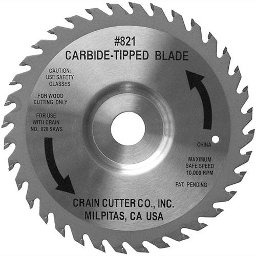 Carbide Tipped Jamb Saw Blade - Crain No. 821
