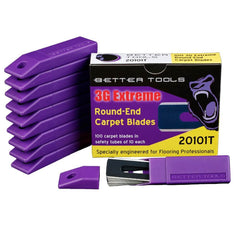 Carpet Blades - Round-End - Pack of 100 Blades By Better Tools