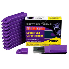 Carpet Blades - Square-End - Pack of 100 Blades By Better Tools