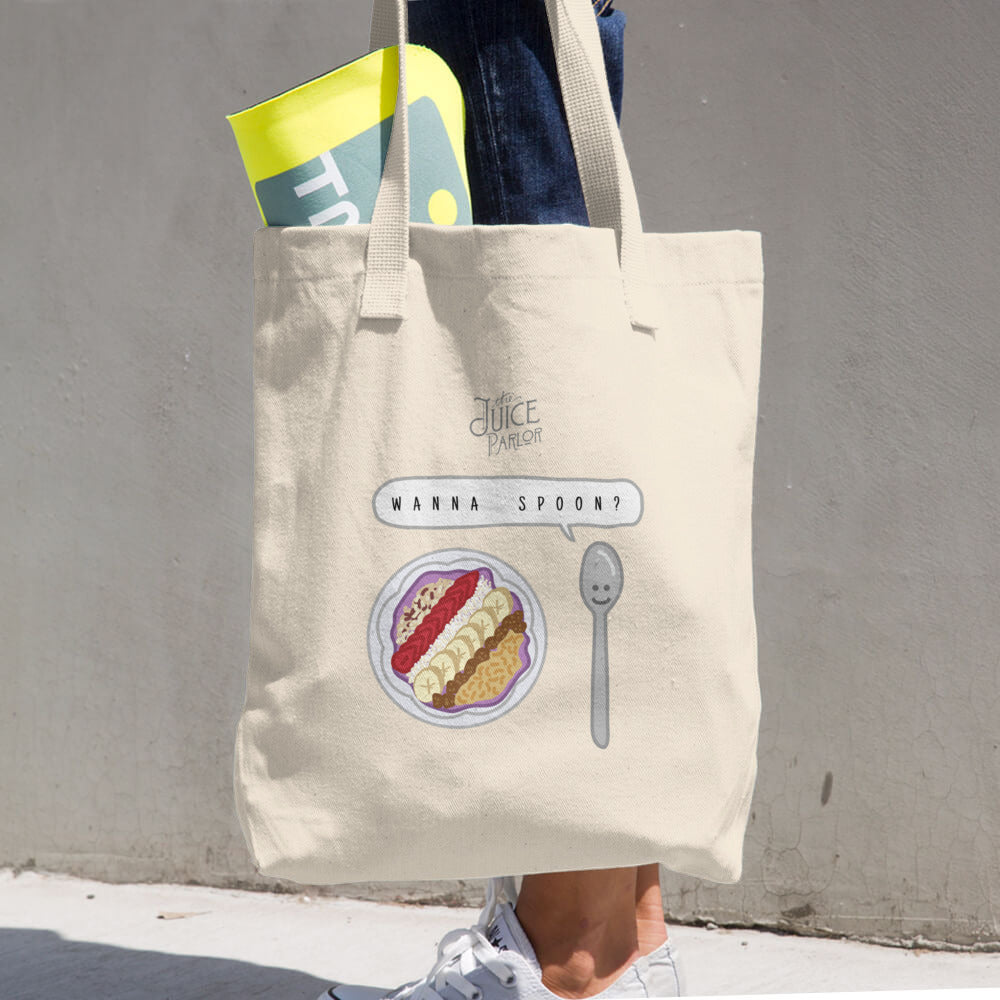 Wanna Spoon? Cotton Tote Bag