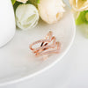 Beagloer Fashion Ring in Rose Gold and Silver with CZ Gemstones