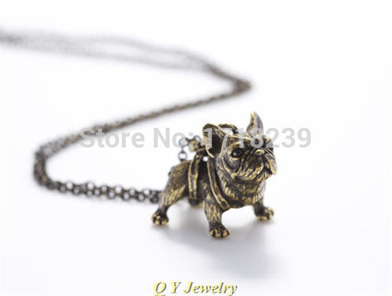 Pup Vintage French Bulldog Necklace
