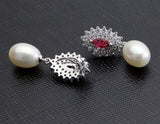 Lacey Drops Freshwater Pearls Earrings