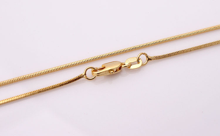 Hainon Gold Plated Snake Necklace Chains