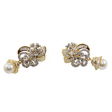 Ashen Beryl White Pearl Earrings