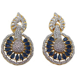 Cruise Statement Navy CZ studded stone Earrings