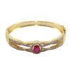 Ashen Crimson Studded Bangles graced with Pink Stone