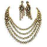 Riviere Kundan Quad Vintage Statement Necklace Set