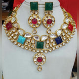 Riviere Kundan Ruby Vintage Statement Necklace Set
