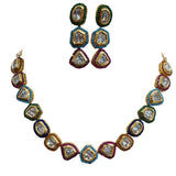 Riviere Kundan Paragon Statement Necklace Set