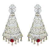 Ashen Ruby Gold and Silver plated Earrings