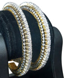 Cordon Crystal Gemstone Studded Bangles Pair