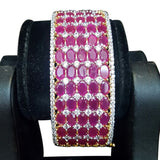Contour Ruby Red gems CZ Studded Bangles