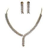 Glitz Marquise shape Stones Statement Necklace Set