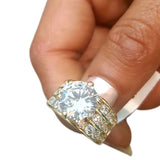 Corona Silver Cast with Crystal White CZ Stone Ring