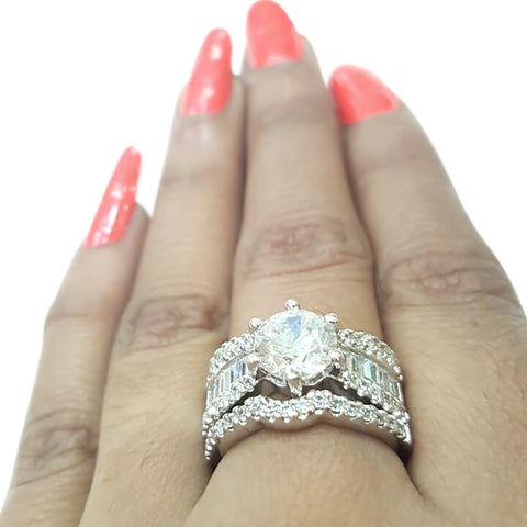 Corona Morass with Crystal White CZ Stones Ring