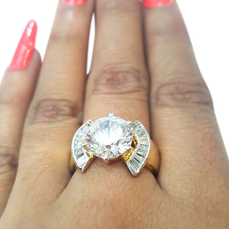 Corona Concord with Crystal White CZ Stones Ring