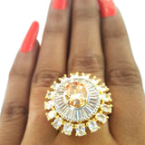 Corona Bold Morass with Crystal CZ Stones Ring