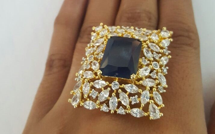 Corona Bold Paragon with Crystal CZ Stones Ring